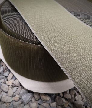 Velcro tape 100mm Army Green Alfatex hook 50cm