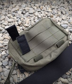 1x Quick belt pouch attaching velcro straps
