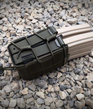 Podwójna ładownica na magazynki Szybka PRO AR15 Kydex