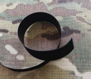 Hook tape 20mm black plastic low profile