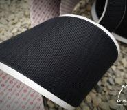Velcro hook 100mm with glue, black 50cm