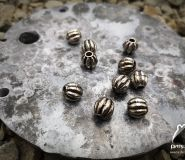 2x 'silver ball' spacer for paracord