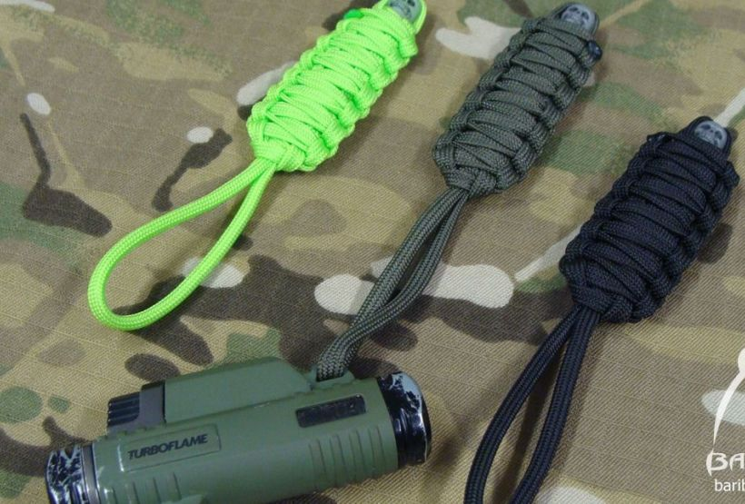 Knife pendant paracord MUMMY zipper pull