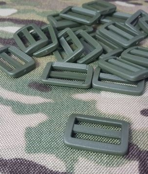 2x Regulator drabinka 25mm ARMY GREEN