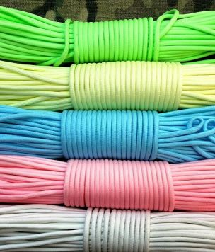 30m - Paracord cordage Glow in the Dark GITD