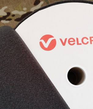 Velcro tape 100mm loop 50cm Gray
