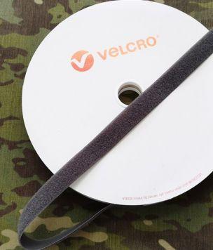 25m - Taśma rzep pętelka 25mm Velcro® szary ROLKA