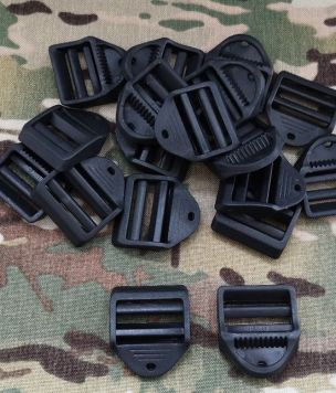 Military webbing lock slider 40mm ~2 BLACK