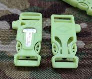 Klamra surwiwalowa gwizdek-krzesiwo 20mm