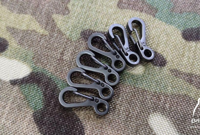 Metalowy haczyk mini karabińczyk na klucze