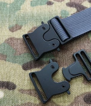 Metal slim buckle 25mm cobra type