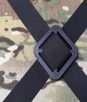 Wojskowa przelotka, ramka krzyżująca 40mm