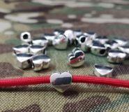 Metal heart bead