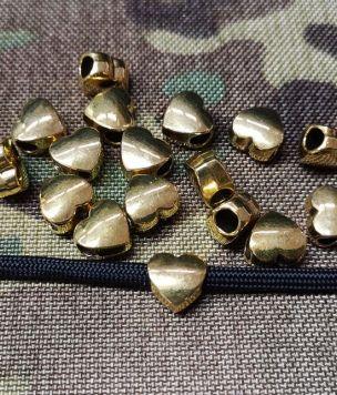 Metalowy koralik złote serce
