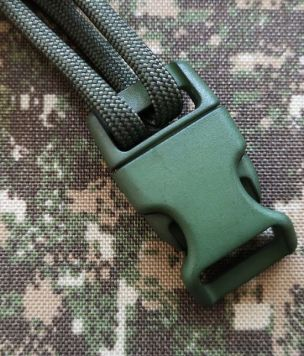 Side Release fastex buckle curved for bracelet Army Green