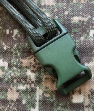 Klamra zatrzaskowa profilowana do bransolet z paracordu