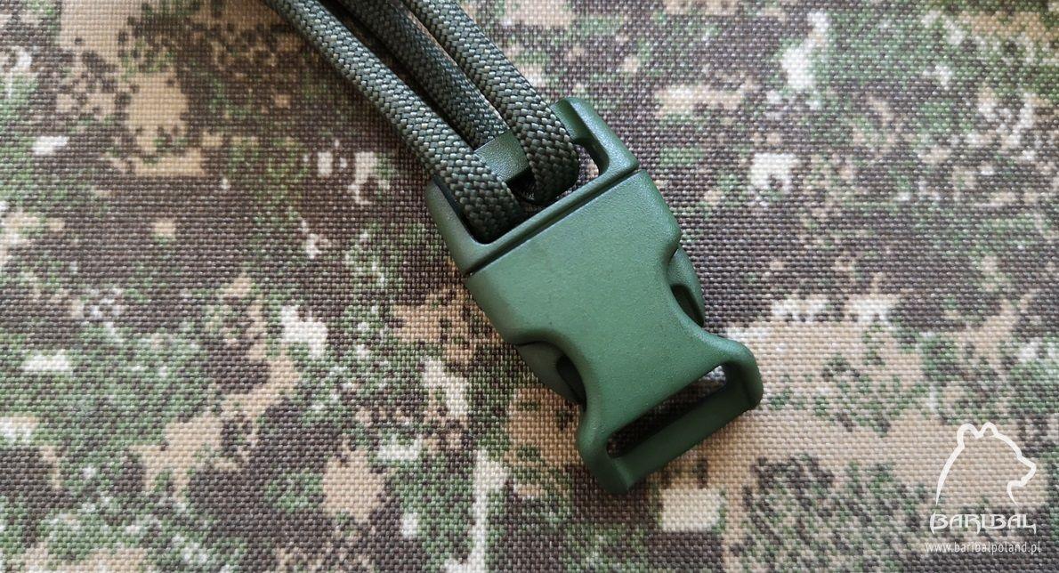 Klamra zatrzaskowa do bransolet z paracordu Army Green