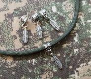 Metal Wolf Head bead silver