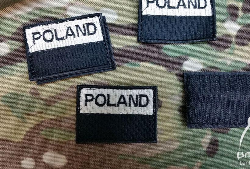 Velcro patch Polish Flag