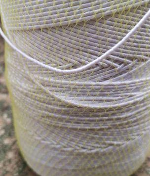 Gumosznurek guma okrągła 2mm biała maseczek 75%