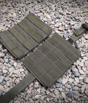 Quick detachable molle panel with velcro