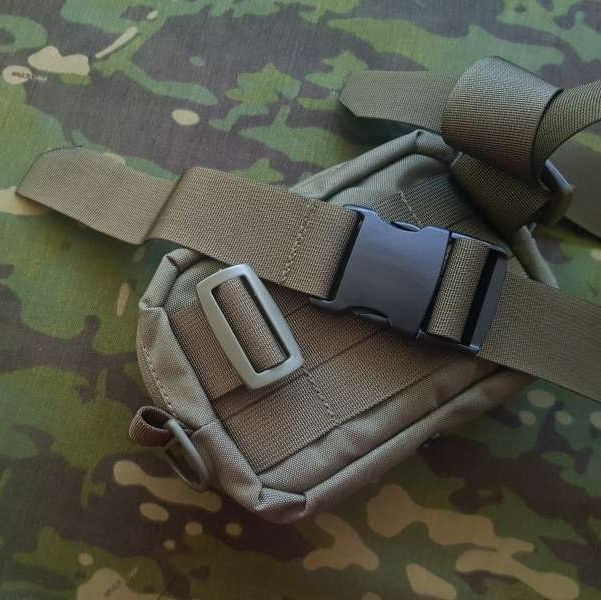 Detachable waist belt 40mm with MOLLE webbing