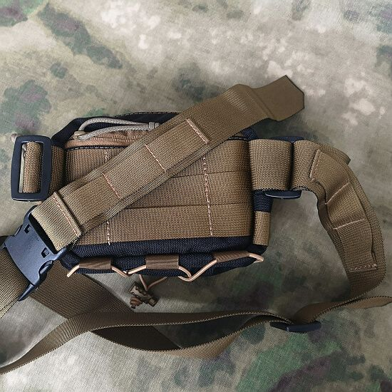 Detachable waist belt 50mm with MOLLE webbing
