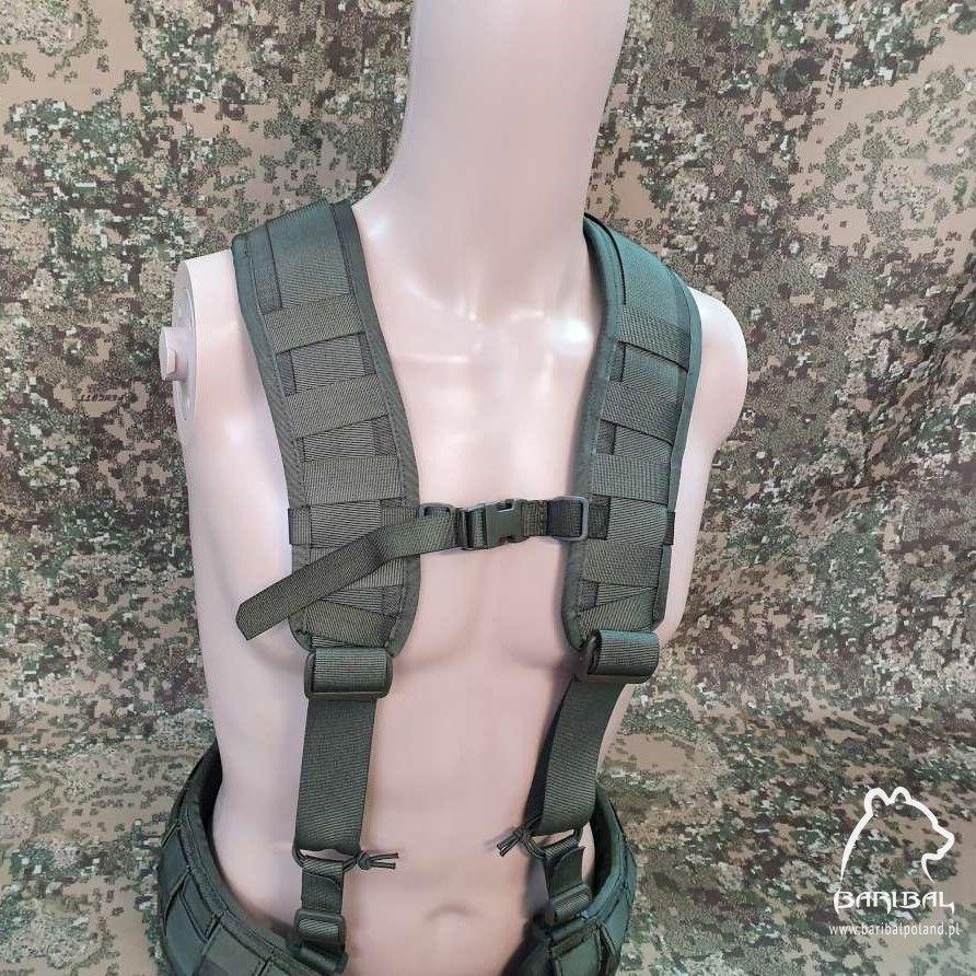 "Ergonomic ""X"" type MOLLE padded harness +120pln"