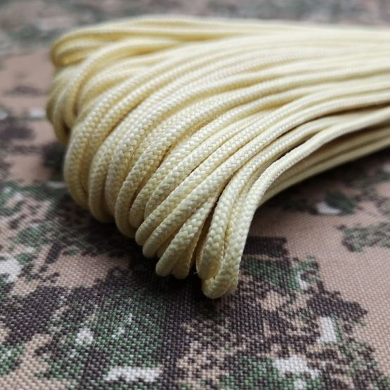 Tactical Kevlar® Aramid 525 USA made cordage 238kg strength for small loop atachments - 1m