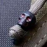 Black-red skulls for main zipper sliders +4pln