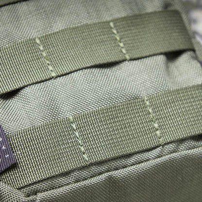 2 rows of webbing (instead of mesh pocket) + 8pln