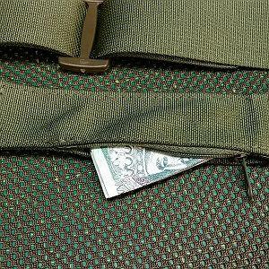 Hidden pocket with zipper closure +12pln