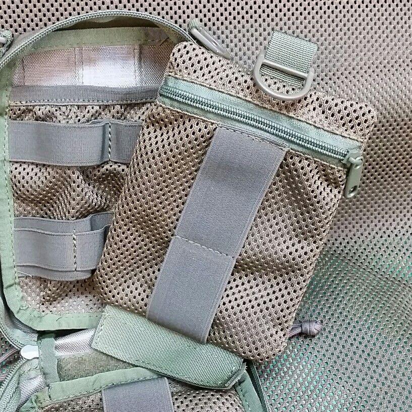 Quick detach panel with zipper closure mesh pocket +25pln