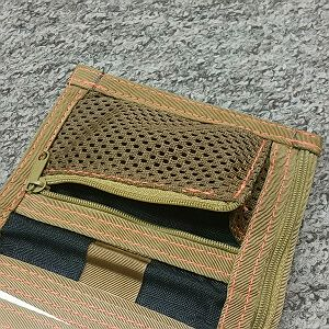 Coin mesh zippered pocket with overlap instead of left pouch card +15pln