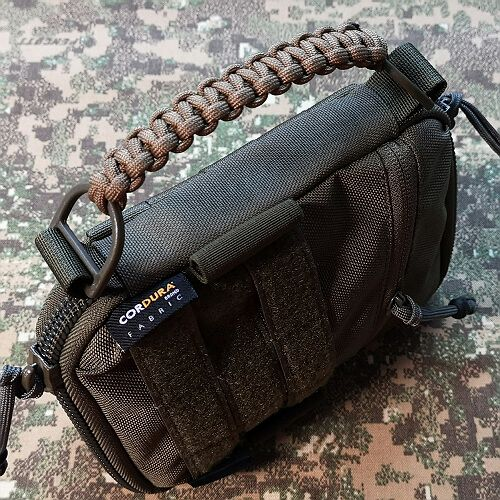 Paracord carrying handle instead of regular handle from webbing +15pln