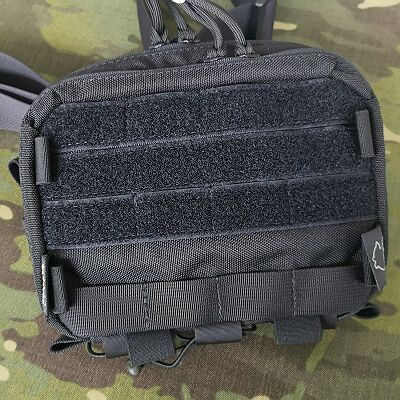 MOLLE webbing with velcro patch panel instead of pocket with flap +15pln
