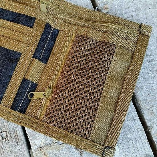 Coin mesh zippered pocket instead of pouch card on the right +12pln