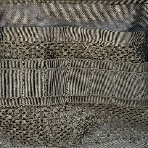 Flat mesh pocket with elastic band organizer for main compartment side +15pln