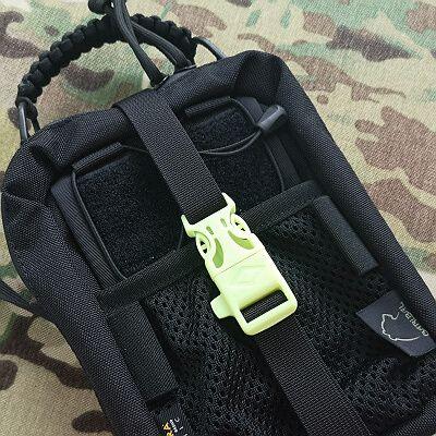GITD Green firerod-whistler buckle +9pln