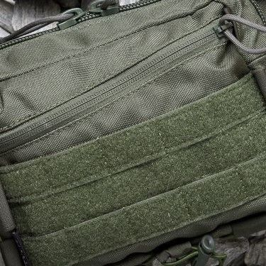 Zippered pocket with MOLLE and loop panel instead of regular flap pocket +19pln